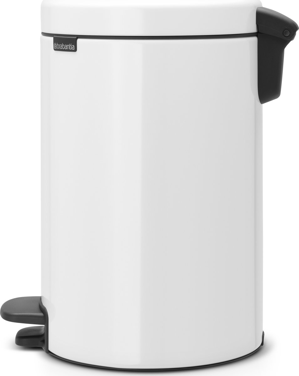 Brabantia Pedalspand, 12 L, metal, white