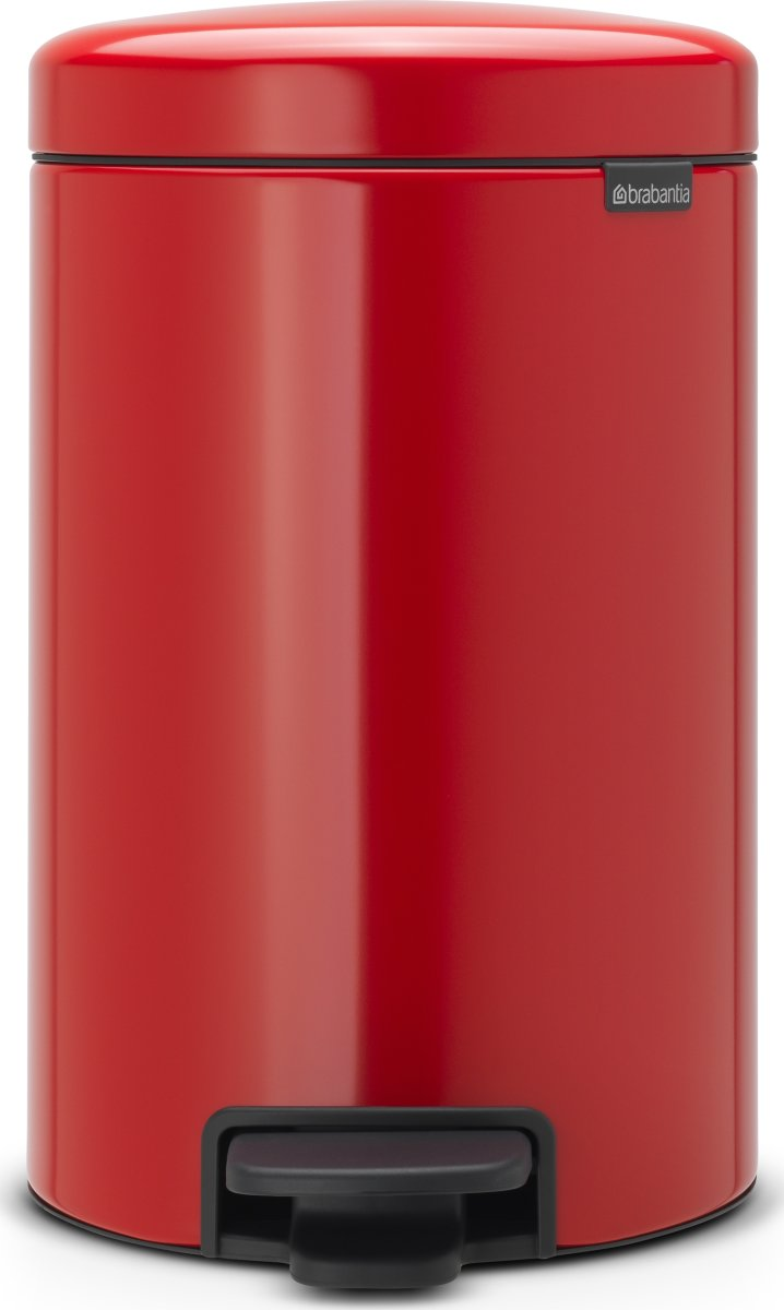 Brabantia Pedalspand, 12 L, passion red