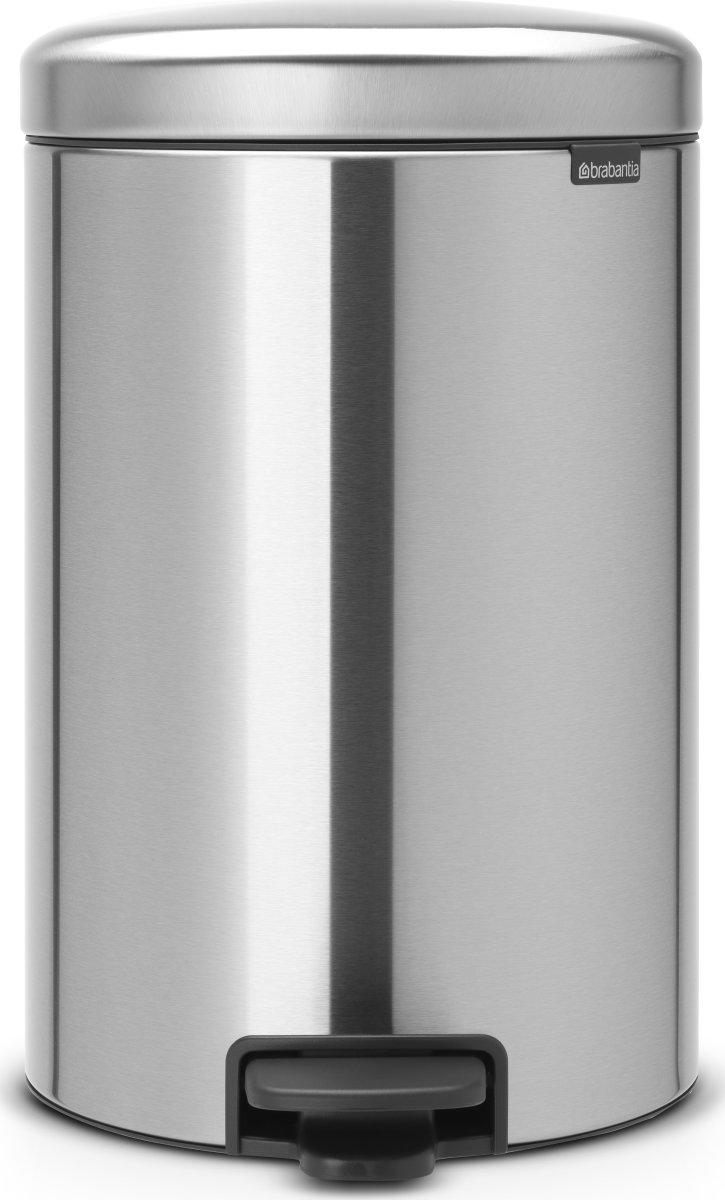 Brabantia Pedalspand, 20 L, matt steel