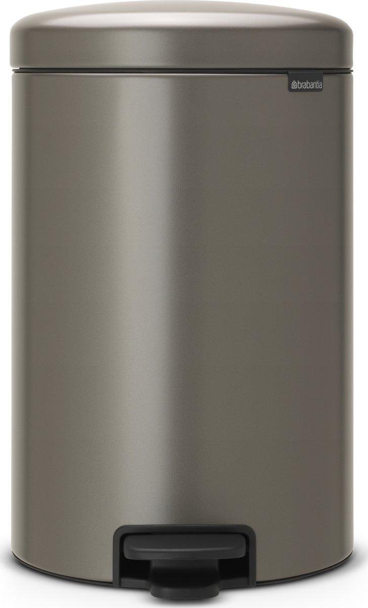 Brabantia Pedalspand, 20 L, platinum