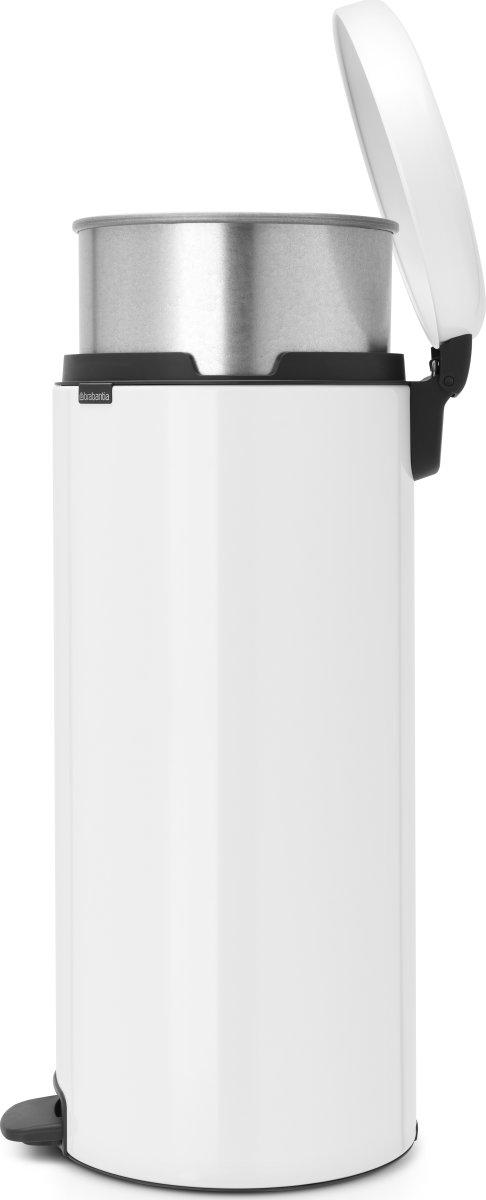 Brabantia Pedalspand, 30 L, metal, white