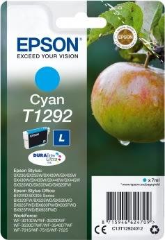Epson nr.T1292/C13T12924012 blækpatron, blå, 440s