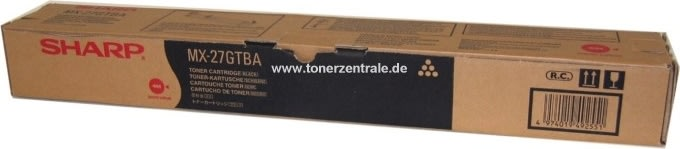 Sharp MX-27GTBA lasertoner, sort, 18000s