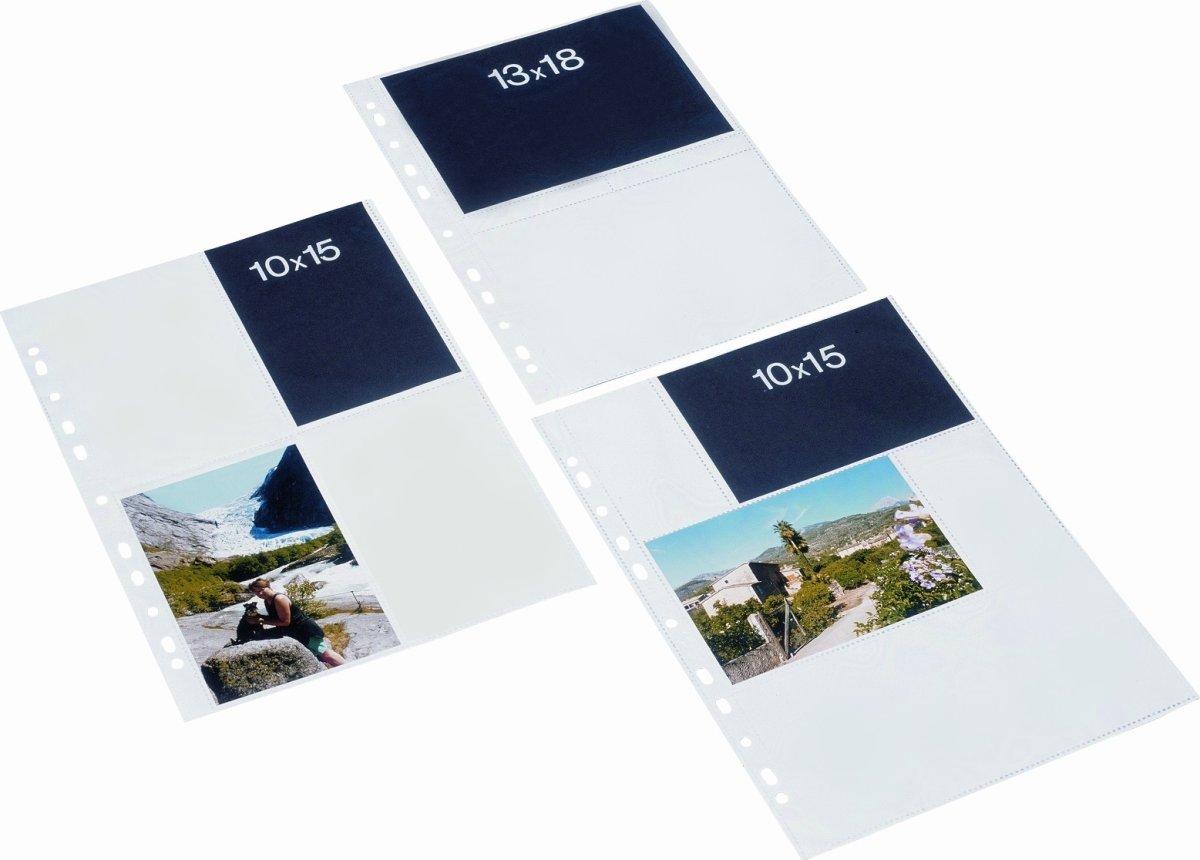Bantex fotolomme, PP, 10x15cm, 100stk, hvid