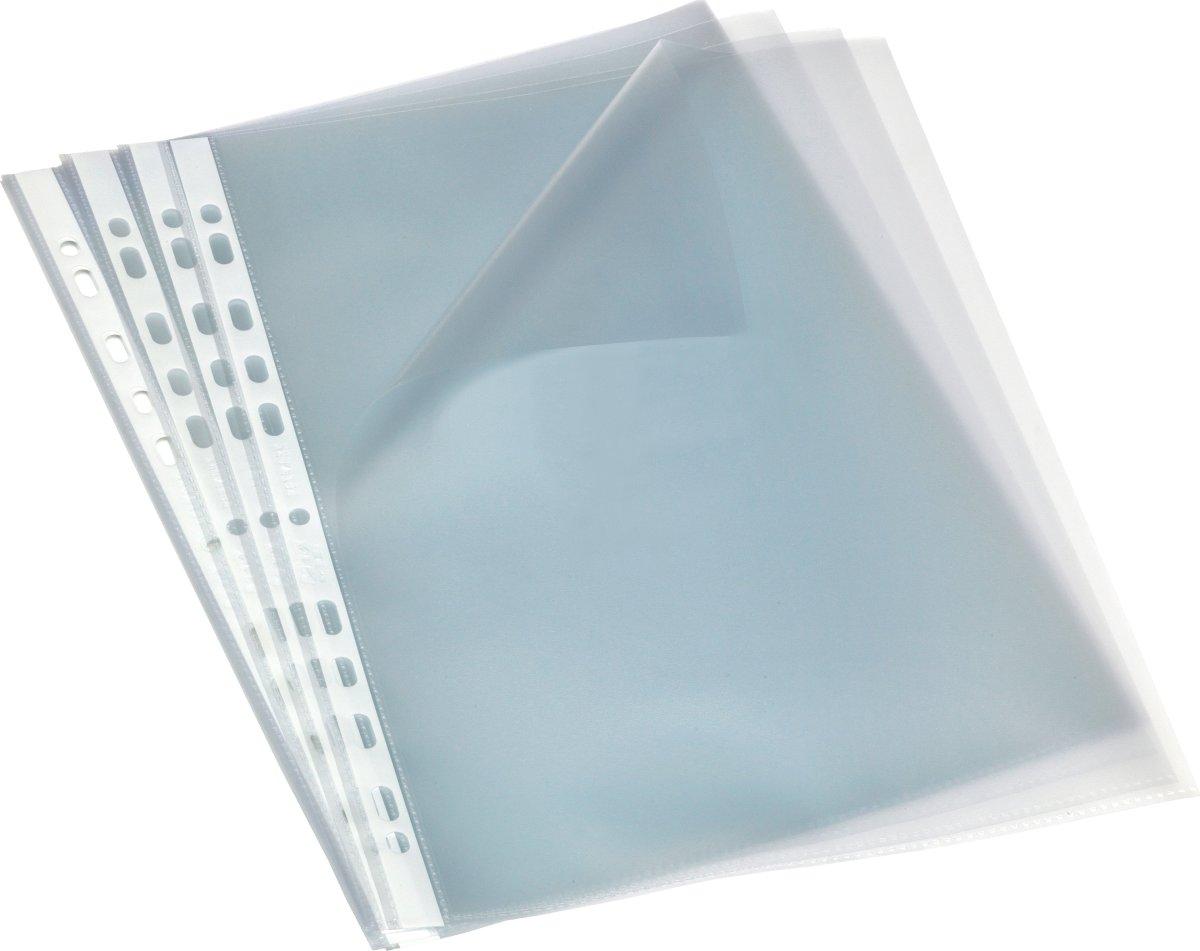 Bantex lomme A4, PP, 0.09mm, top + v.side, 100stk