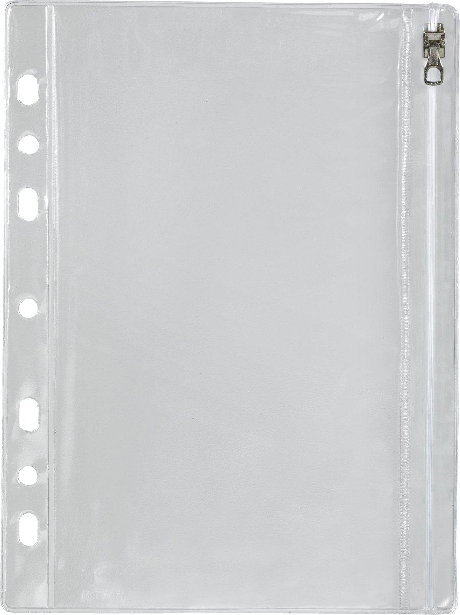 Bantex lomme A5, med lynlås, 10 stk.
