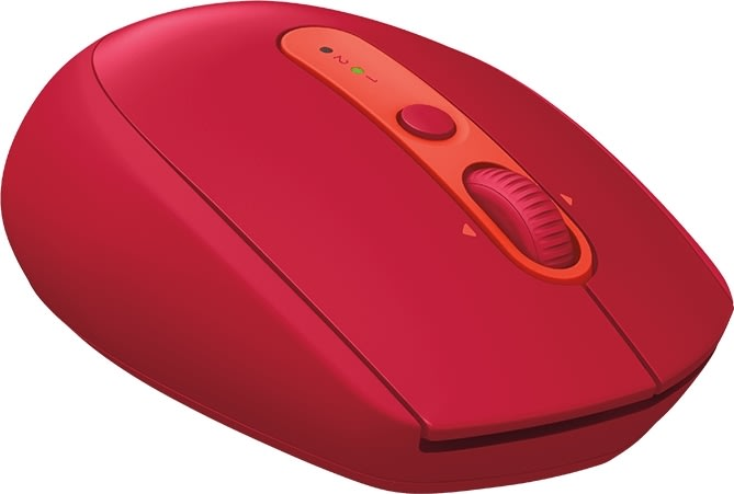 Logitech M590 Silent trådløs mus, Rød