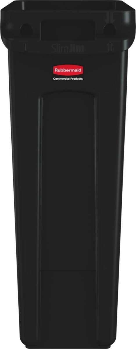 Rubbermaid Slim Jim affaldsbeholder, 87 liter,Sort
