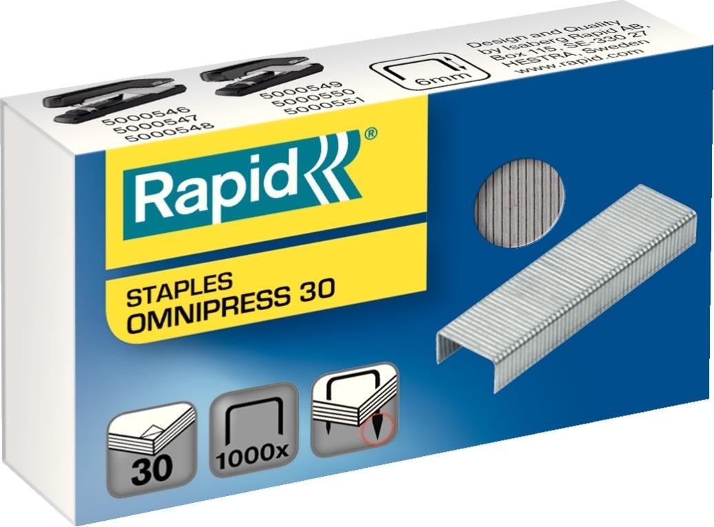 Rapid Omnipress 30 Hæfteklammer, 1000 stk.
