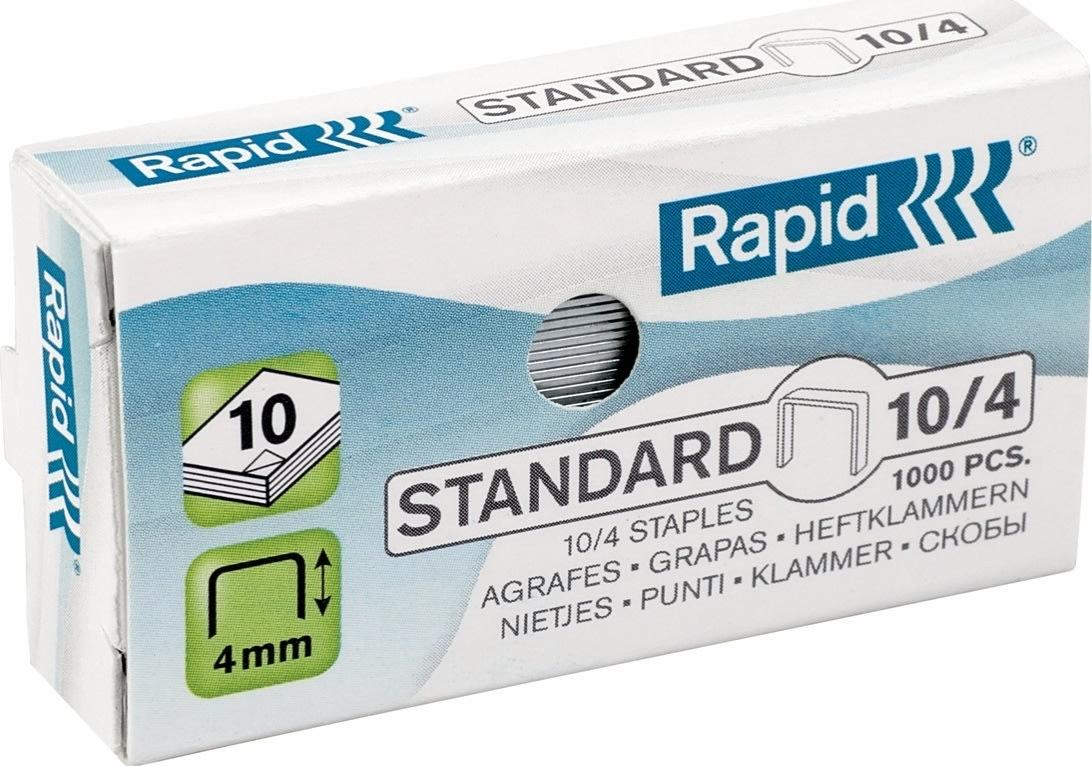 Rapid Standard 10/4 Hæfteklammer, 1000 stk.