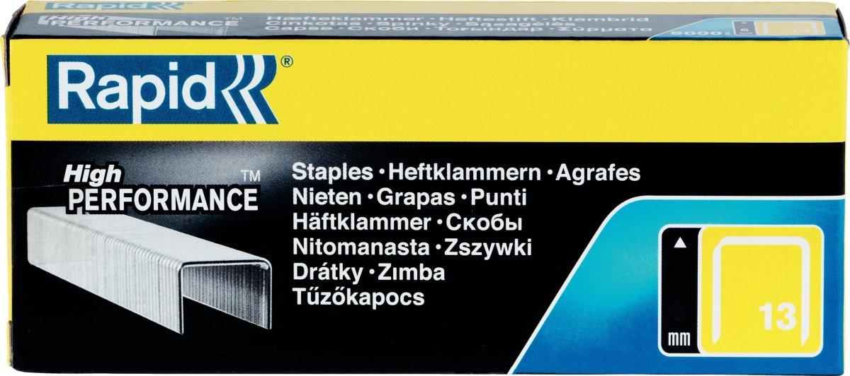 Rapid nr. 13/6 Hæfteklammer, 5000 stk.