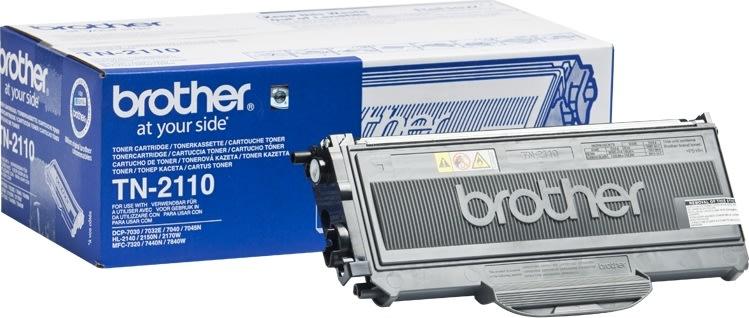 Brother TN2110  lasertoner, sort, 1500s