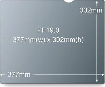 "3M PF19 Privacy Filter 19"""
