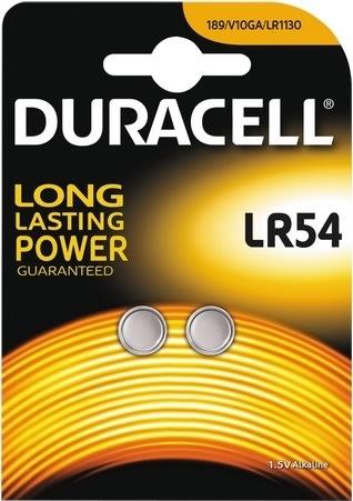 Duracell LR54 knapcelle batterier, 2 stk.
