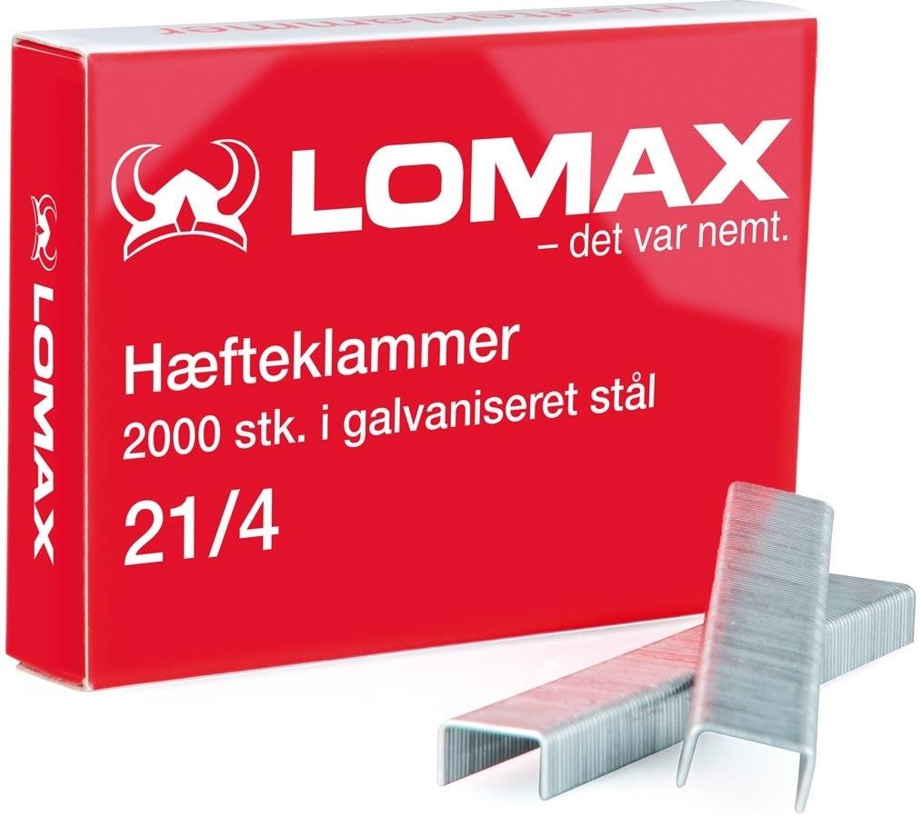 Lomax Hæfteklammer 21/4, 2000 stk.