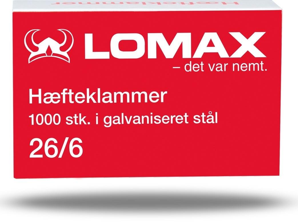 Lomax Hæfteklammer 26/6, 1000 stk.