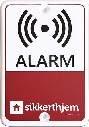 Alarmmærkat til SikkertHjem alarm