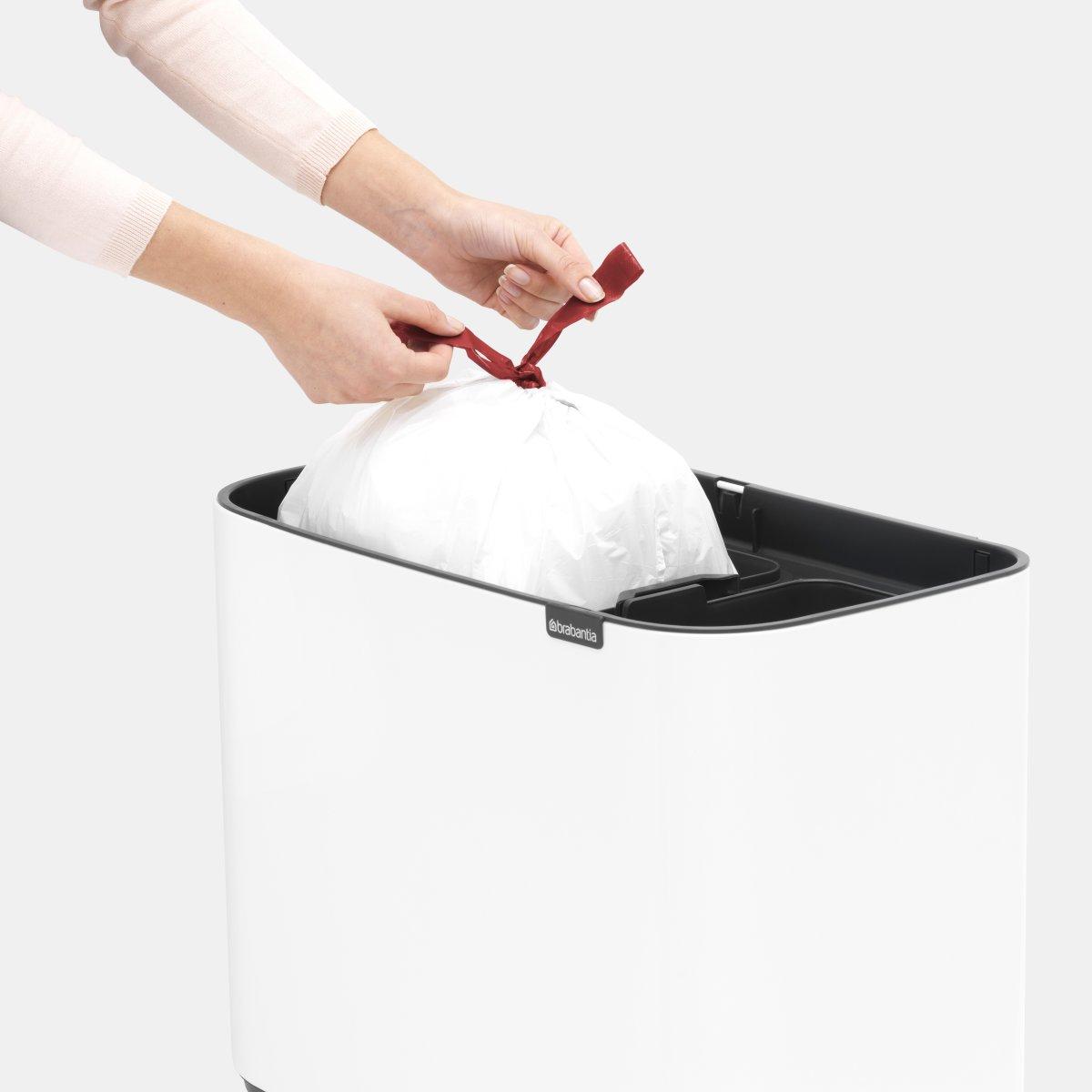 Brabantia BO Touch Bin 11+23 L, white