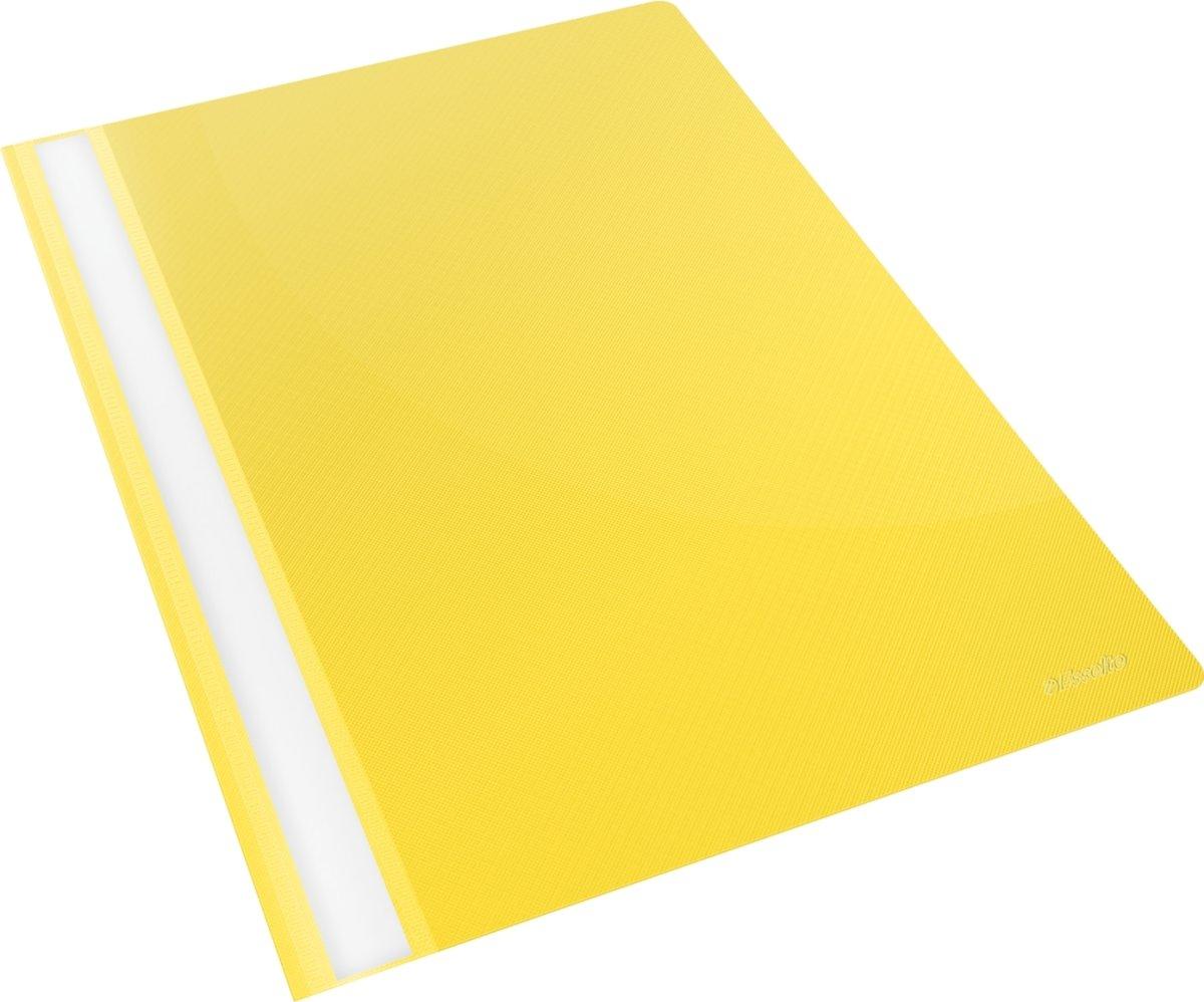 Esselte Vivida tilbudsmappe, A4, uden lomme, gul