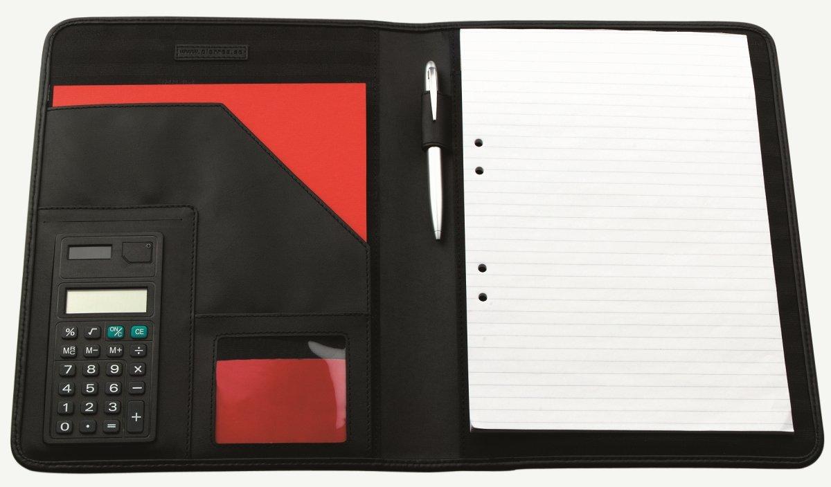 Pierre dokumentmappe m/lommeregner, nylon, sort