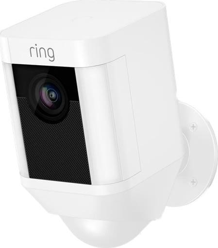 Ring batteridrevet HD overvågningskamera, hvid