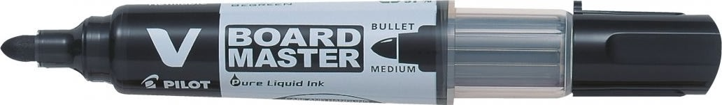 Pilot Begreen V-Board marker, rund spids, sort