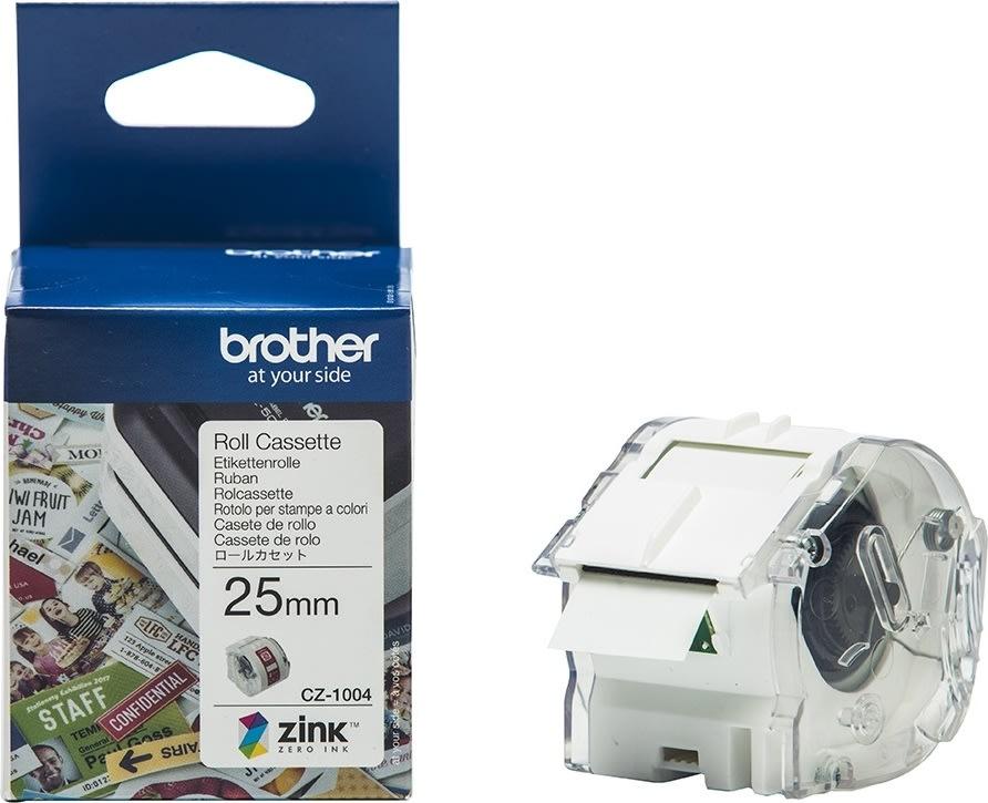 Brother CZ-farvelabeltape, 25mm x 5m, hvid