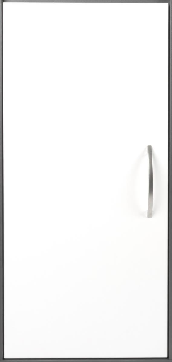 Stay dør t/2 rum i højden inkl. lås, H. hvid