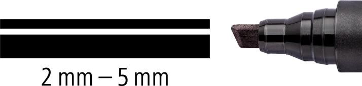 Staedtler Lumocolor 350 Marker skrå, perm, sort