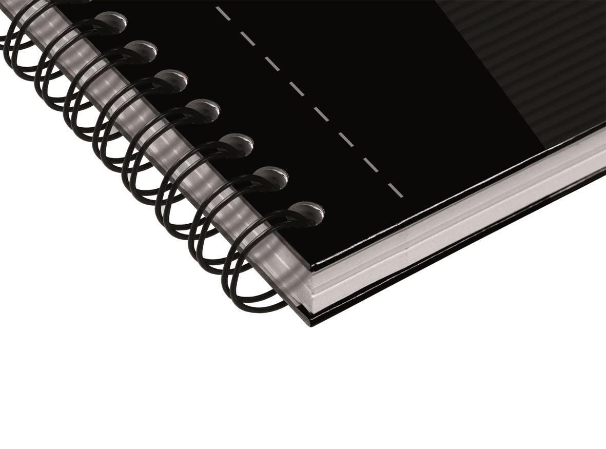Oxford Smart Black Spiralbog A4, linjeret, sort