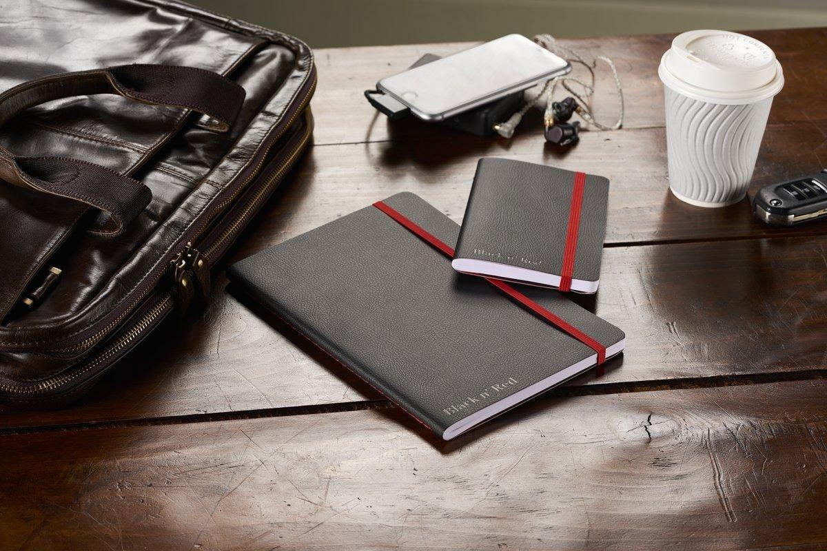 Oxford Black n'Red Soft Notesbog B5, linjeret