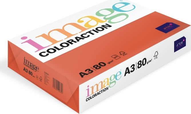 Image Coloraction A3, 80g, 500ark, valmuerød