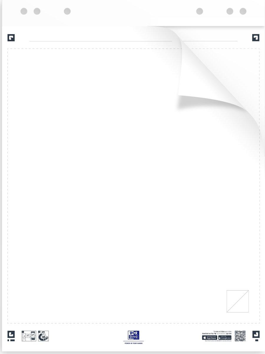 Oxford Smart Chart Sticky Flipoverblok 650x800 mm