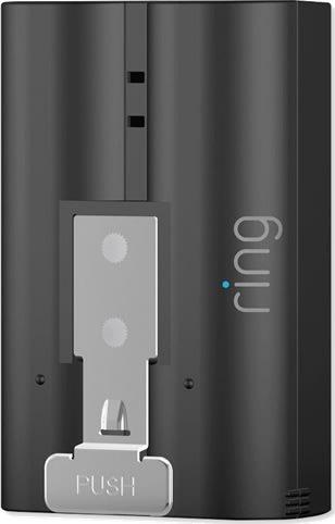 Batteri til Ring Doorbell 2 ringeklokke, sort