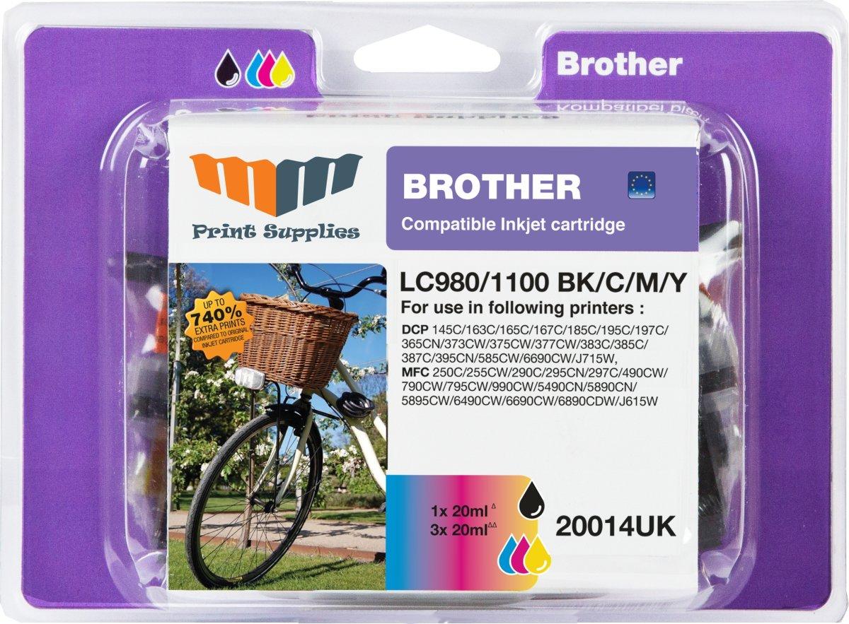 MM LC980/LC1100 blækpatroner, value pack