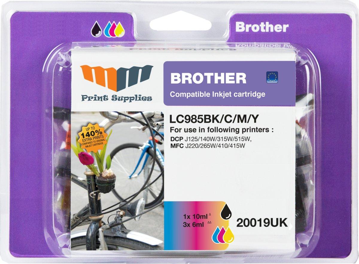 MM LC985 kompatibel Brother blækpatron, value pack