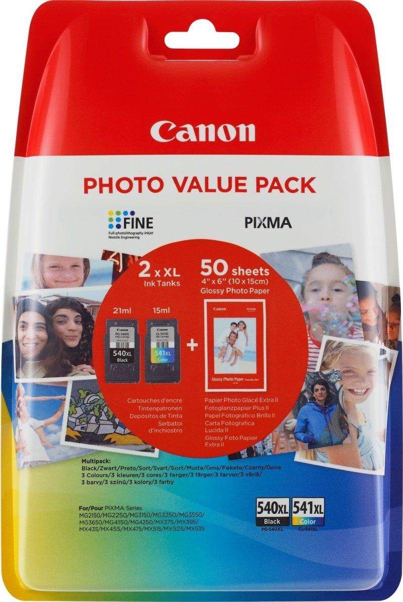 Canon PG-540XL blæk og fotopair, sampak