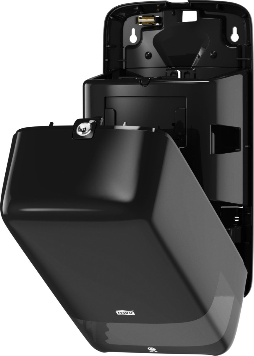 Tork T6 Twin Dispenser toiletpapir, sort