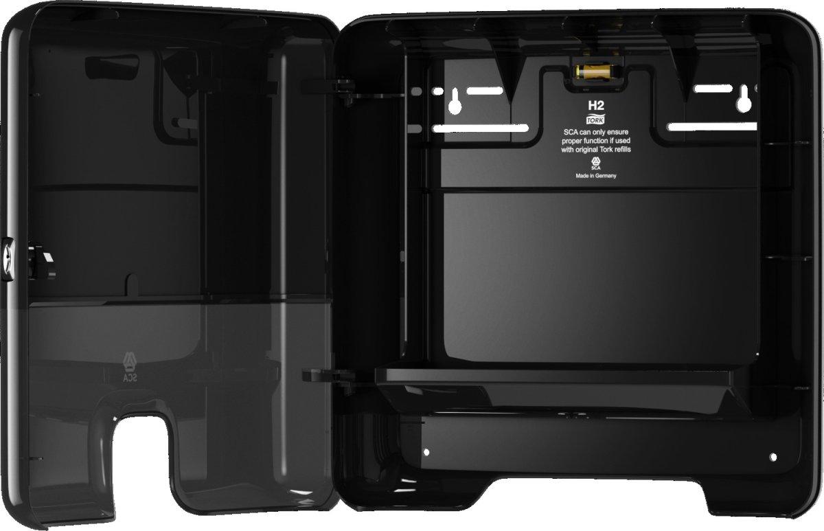 Tork H2 Xpress Mini Dispenser Håndklædeark, sort