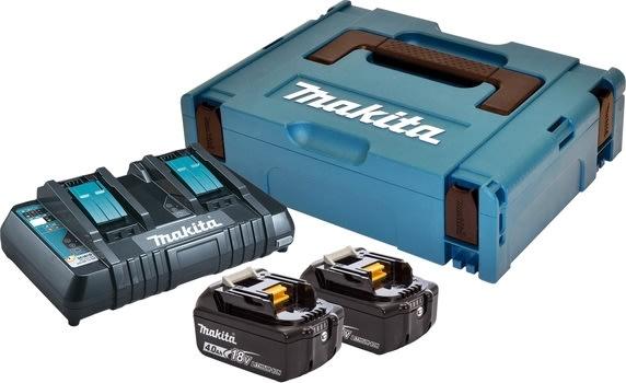 Makita Batteripakke, 2 x BL1840B + DC18RD