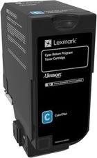 Lexmark CS720 (return) lasertoner, cyan, 3000s