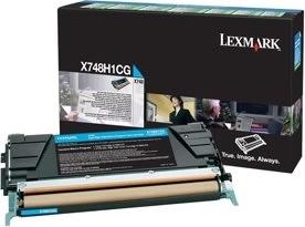 Lexmark X748 lasertoner (prebate), cyan, 10000s