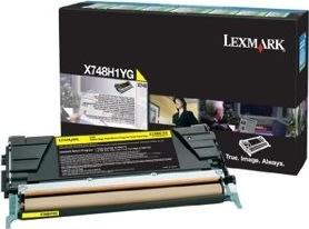 Lexmark X748 lasertoner(prebate), gul, 10000s