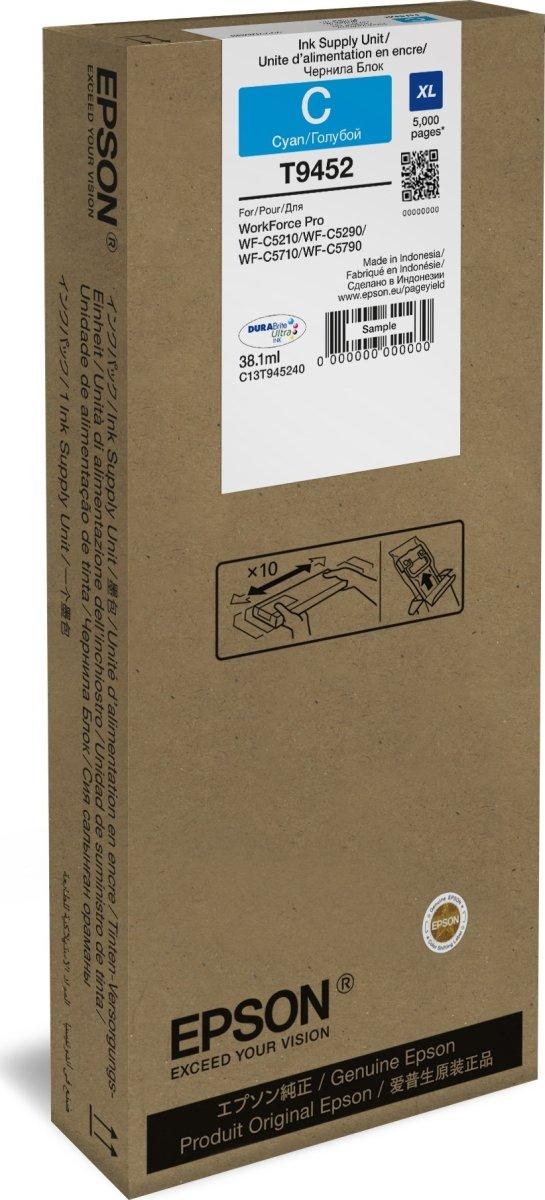 Epson T9452 XL blækpatorn, cyan, 5000s