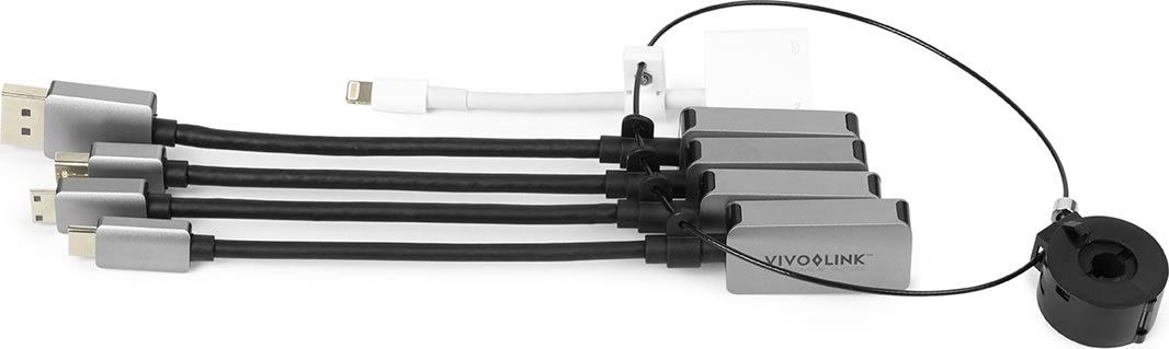 Vivolink Pro HDMI adapter ring, 5 porte, m/kabler