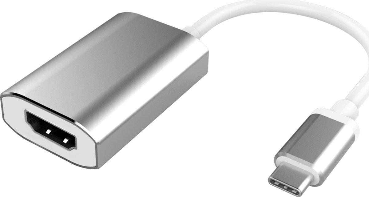 MicroConnect USB-C til HDMI adapter, sølv, 0.2m