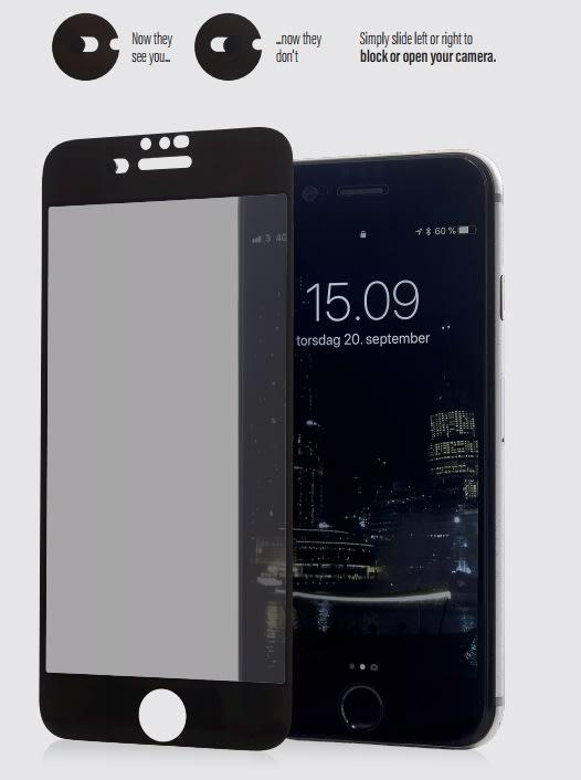 PanzerGlass CamSlider til iPhone 8/7/6s/6, hvid