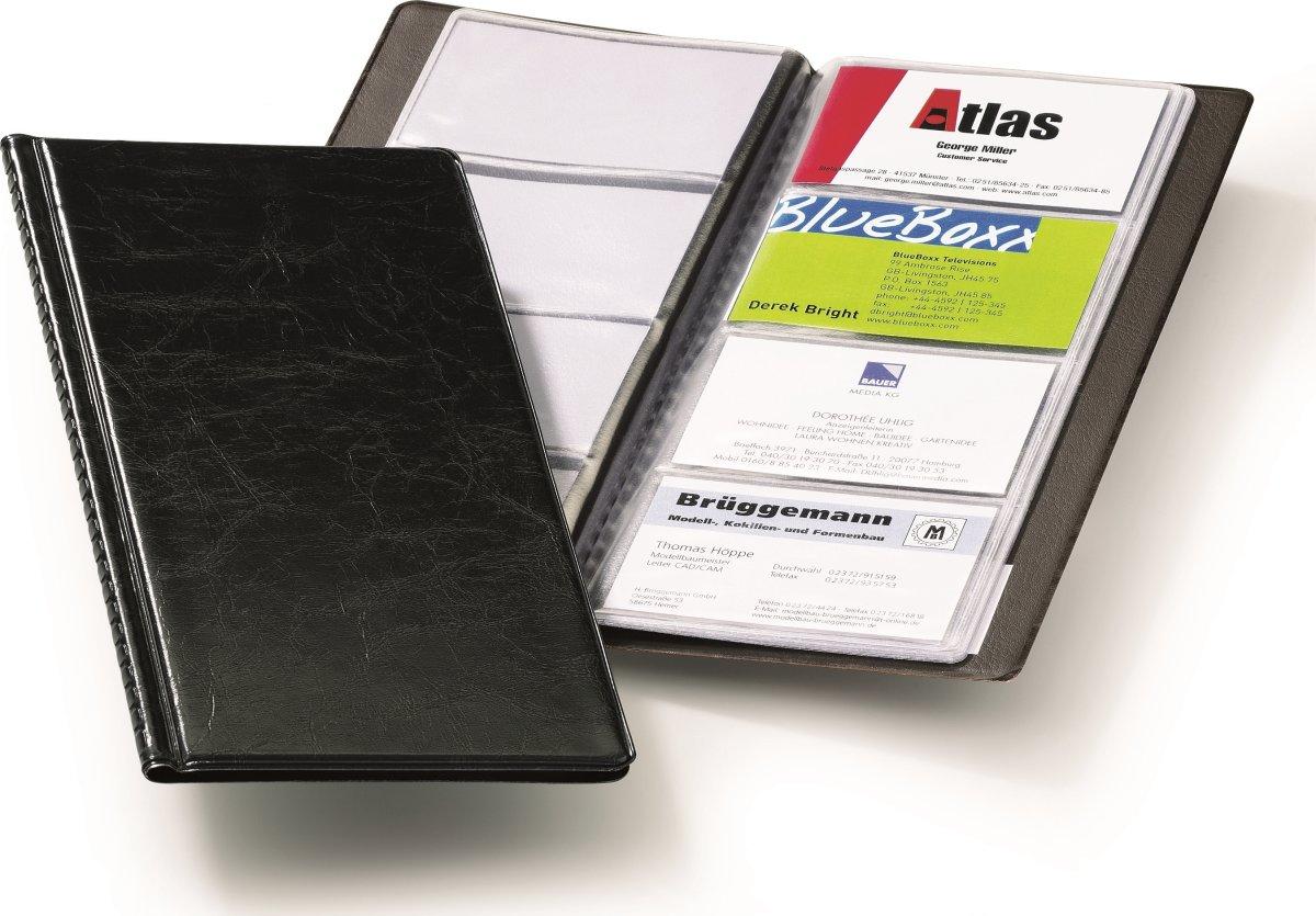 Durable Visifix visitkortmappe til 96 kort, sort