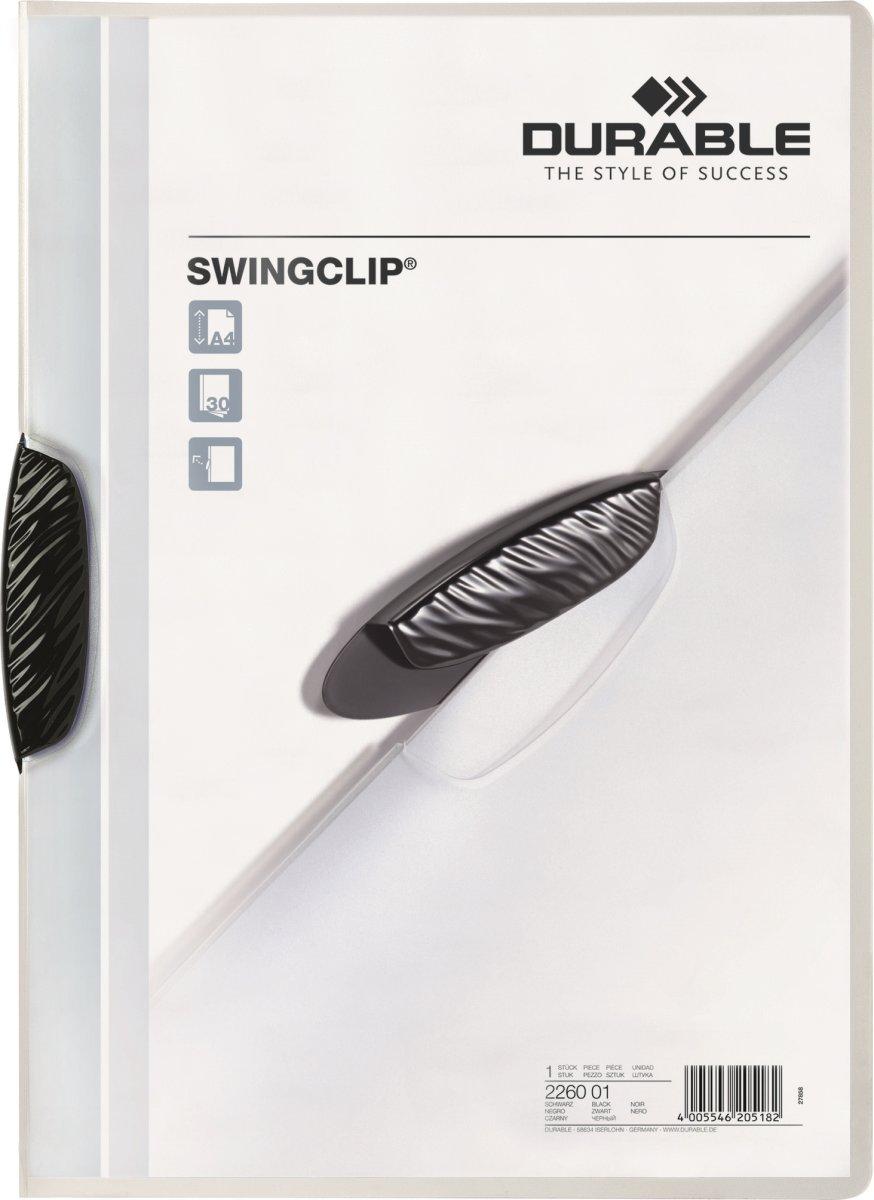 Durable Swingclip Klemmappe, sort