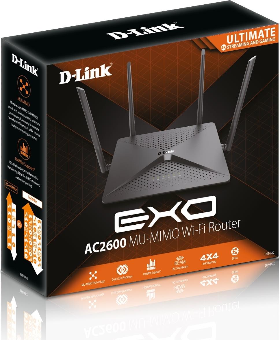 D-Link DIR-882 EXO AC2600 MU-MIMO trådløs router